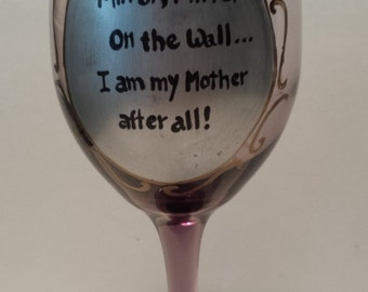 Mirror wineglass