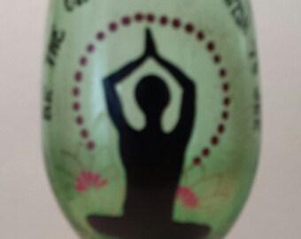 yoga wineglass