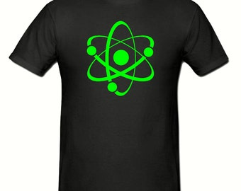 Green atom t shirt,mens t shirt sizes small- 2xl,fathers day gift,dad gift