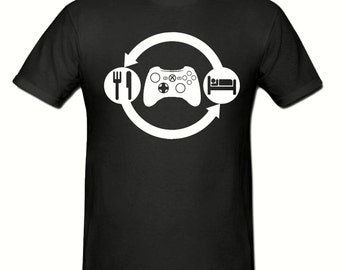 Eat Sleep GAME t shirt,men's t shirt sizes small- 2xl, GAMER men's t shirt