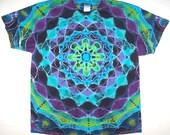 Free Shipping - Handmade Dark Kaleidoscope Tie Dye Shirt