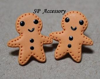 Lovely Gingerbread Earrings, earrings clay, jewelry earrings, clay earrings