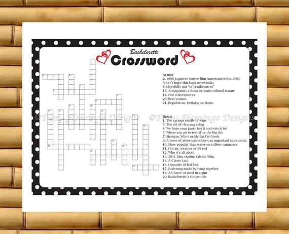 Famoso Addio al nubilato addio al nubilato Crossword stampabile IF28