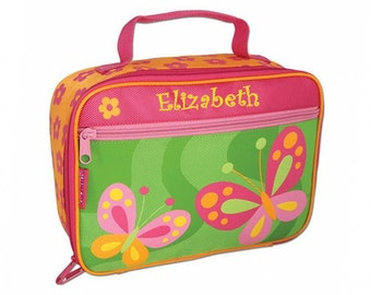 Personalized Classic Pink Butterfly Lunch Box