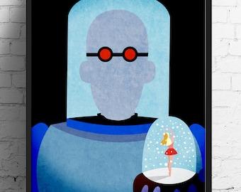 Batman poster, Mr. Freeze, The Dark Knight print, comic print