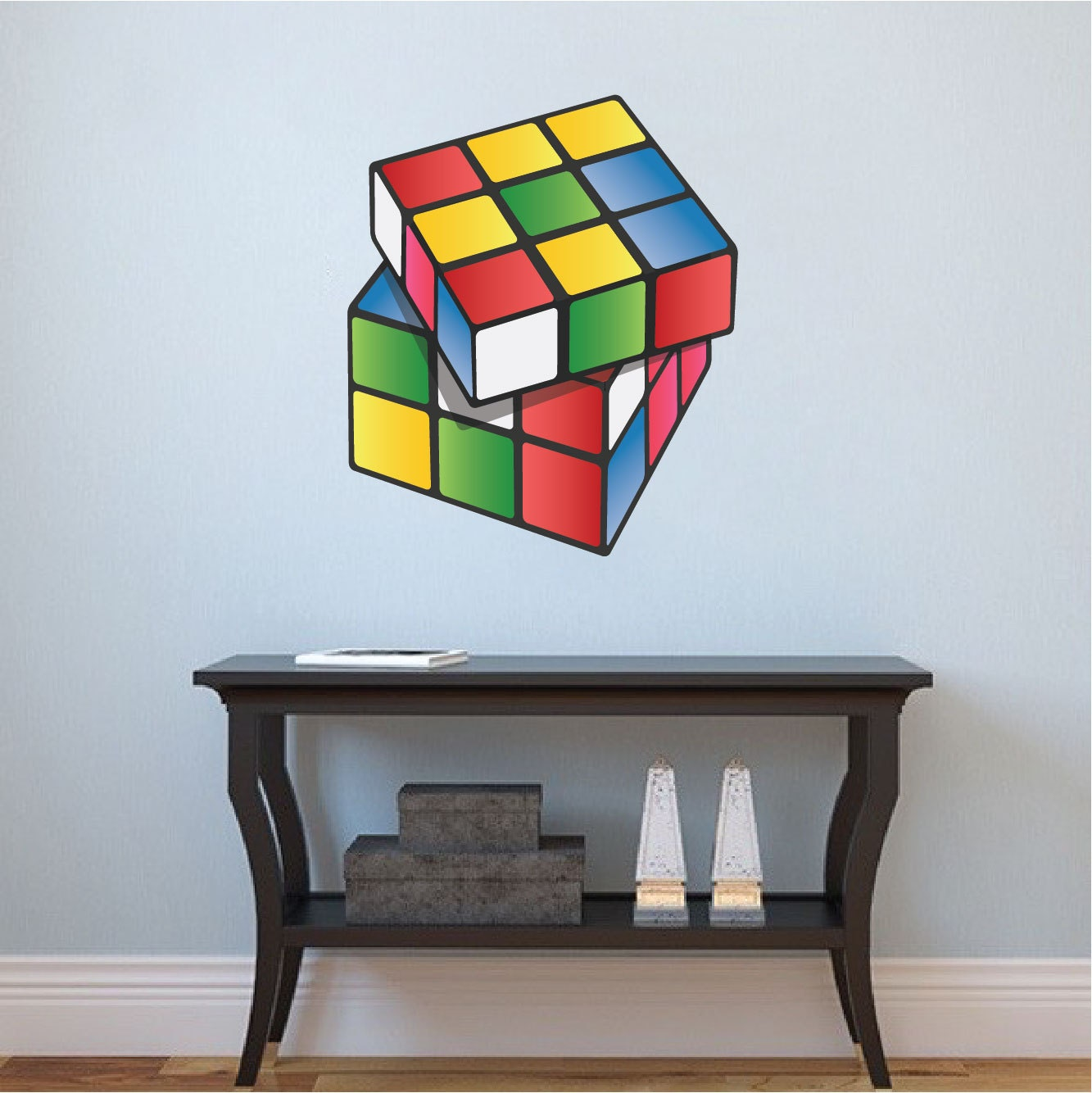 Rubiks cube kids wall decals rubiks cube wall art by primedecal - Cube wall decor ...