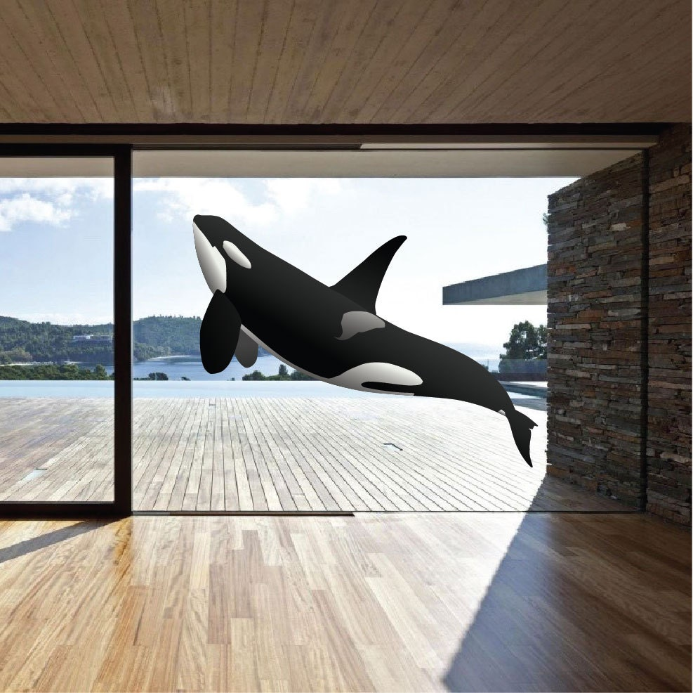 Orca whale wall decal killer whale wall decal orca whale zoom amipublicfo Gallery