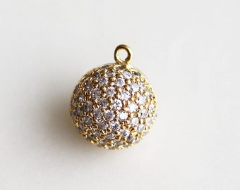 P0-865-G] Cz Ball / 11mm / Gold plated / Pendant / 1 piece(s)