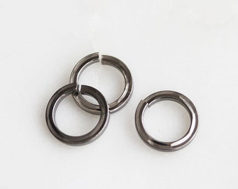 S4-136-2-M] 8mm / Gunmetal plated / Flat Round Jumping / 10 piece(s)
