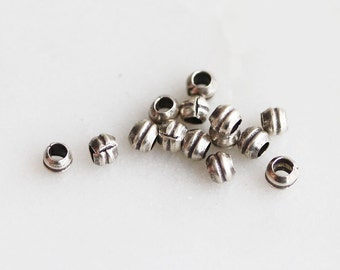 T6-188-SS] Tube / 2mm / Sterling Silver / Metal Beads / 10 piece(s)