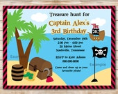50% OFF SALE - Pirate Birthday Invitations - Kids Pirate Birthday Party Invitation, Invitation Pirate boy, Digital File You Print