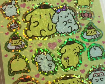 Sparkly Pom Pom Purin Stickers