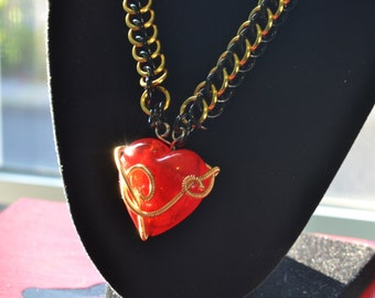 Coiled Heart Necklace