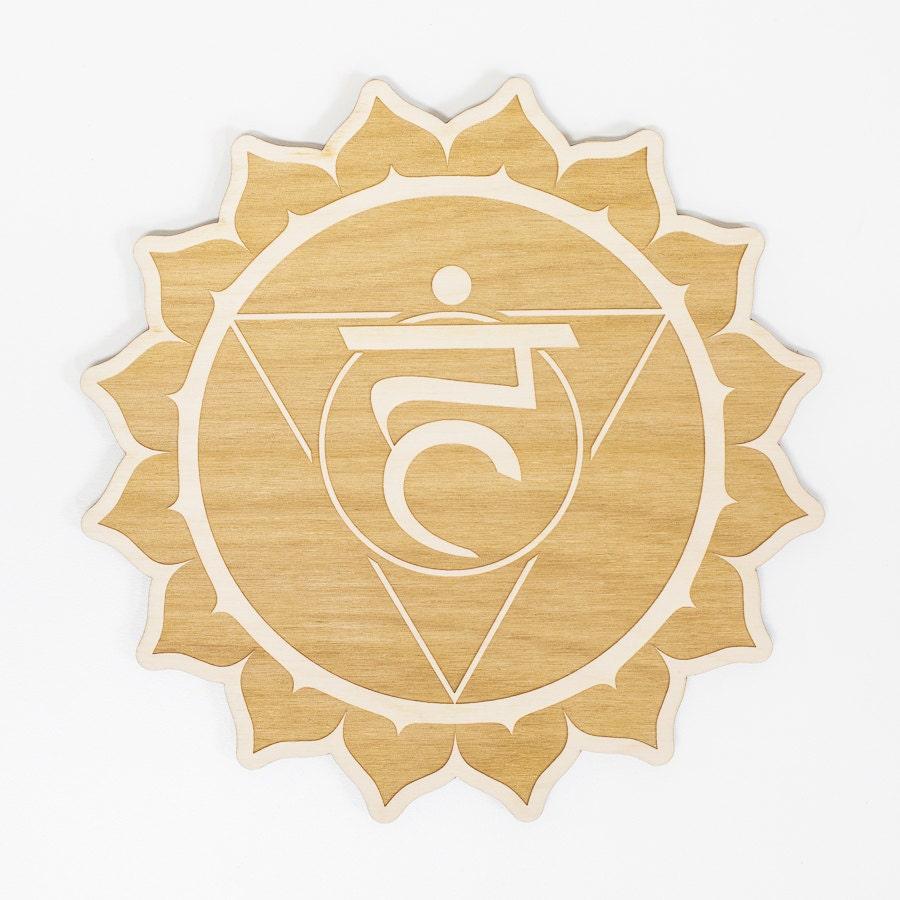 Throat Chakra Wood Sign - Spiritual Wall Art, Wood Chakra, Chakra ...