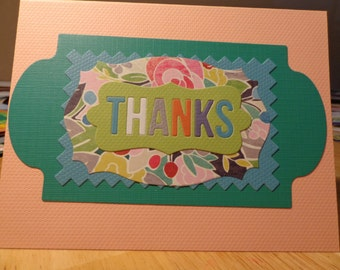 Two colorful thank you cards