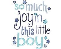 Baby Boy Sentiments Too Design 5 Filled Stitch Machine Embroidery Design 4x4 5x7