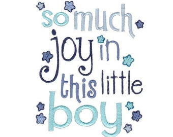 Baby Boy Sentiments Too Design 5 Filled Stitch Machine Embroidery Design 4x4 5x7