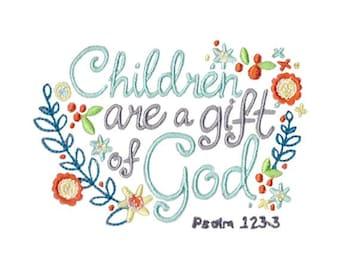 Children's Bible Too Design 9 Filled Sittch Machine Embroidery Design 4x4 5x7 6x10