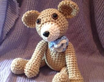 Baby Bear-Flower Crochet Plush
