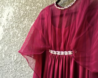 Red Emma Doml 70's gown