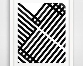 Geometric Print, Printable Art, Modern Wall Art, Mid Century Print,  Retro art print, Abstract print,  Instant Download