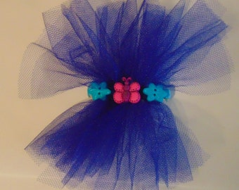 Tulle Barrette with button accents
