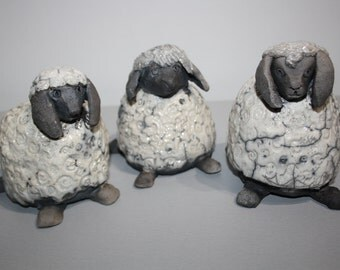 Ceramic raku the sheep