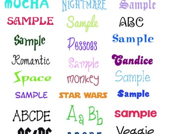 FONT ALPHABET LETTERS  designs pack for embroidery machine, instant download