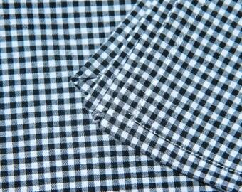 Black and White Gingham Napkins- Set of 4