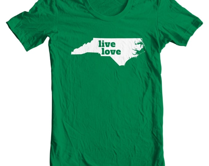 North Carolina T-shirt - Live Love North Carolina - My State North Carolina T-shirt