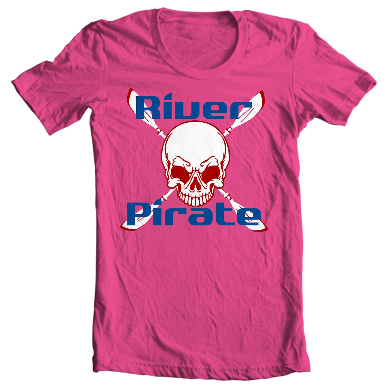 Kayaking T-shirt - River Pirate - Paddle Life Kayaking T-shirt