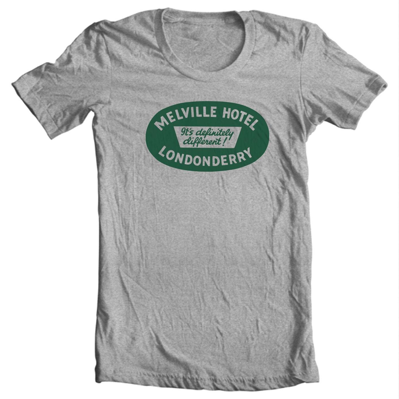 Melville Hotel Londonderry Northern Ireland Vintage Travel Sticker T-shirt