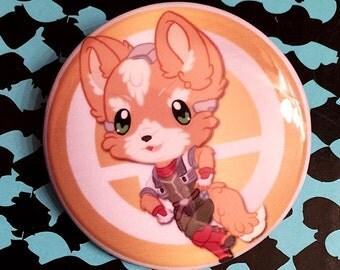 Super Smash Bros. Fox McCloud (Star Fox) Chibi Button