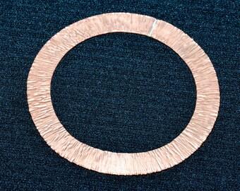 Copper Flat Textured Bangle