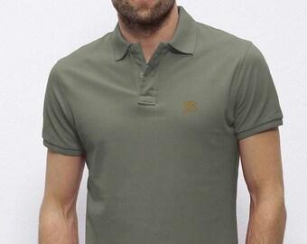 POLO 100% Organic cotton  short sleeve Khaki