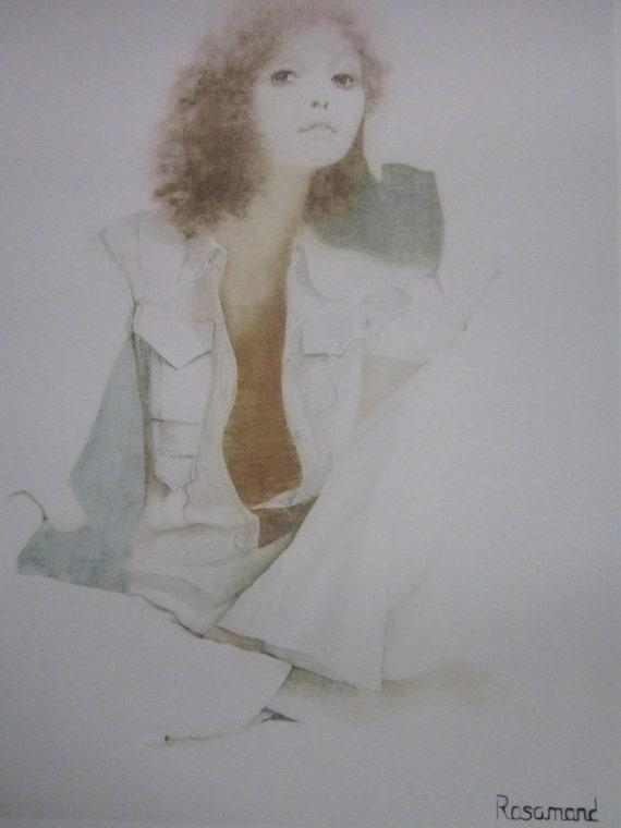 Vintage 1973 Christine Rosamond Signed Lithograph Print