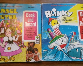 Set of 2 Book and Record by Peter Pan Records