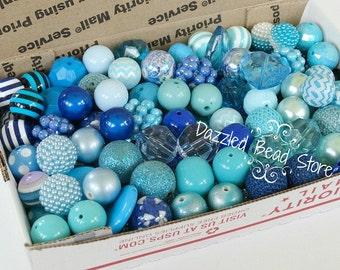 16mm -22mm Mixed LOT bubblegum beads - 150 pieces