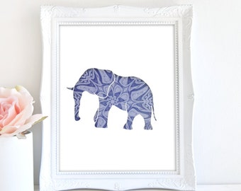 Elephant Print, BOHO Art, Elephant Art, Wildlife Art, Animal Art, Elephant Nursery Art