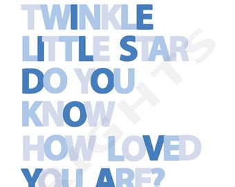 Twinkle Twinkle Little Star - Blue