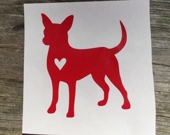 Chihauhua Sticker with Heart