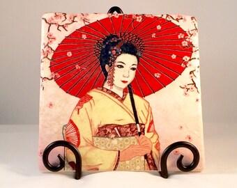 Geisha Trivet ( hot pad)