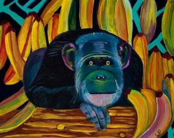 Ape: Original Acrylic Painting on Canvas