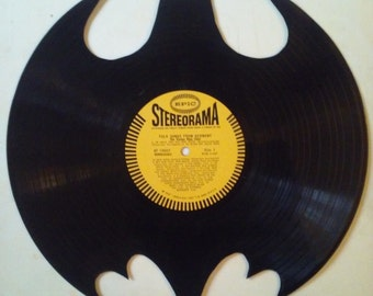 Batman vinyl record wall art!!!!