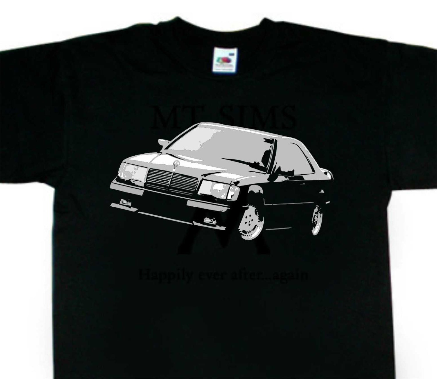 w124 ce coupe t shirt mercedes amg inspired bc235. Black Bedroom Furniture Sets. Home Design Ideas