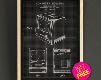 Computer mouse patent poster computer mice blueprint art print apple computer housing patent wall art first apple computer blueprint poster art print house wear gift malvernweather Choice Image