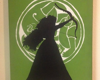 Brave Silhouette Painting
