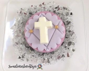 Cross chocolate covered Oreos/Communion