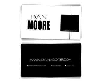 Premade business card / Minimal business card / Business card template / Black white business card / Men business card / Custom b card