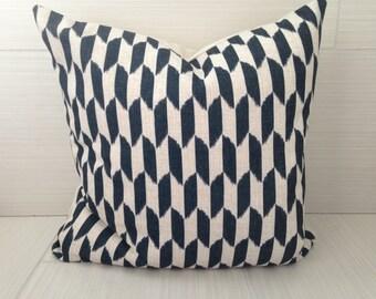 Black Geometric Modern Pillow Cover  *ON SALE